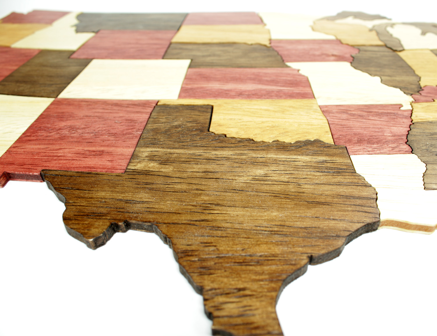 Special Order United States Of America Puzzle Handmade P - Large wood us map puzzle