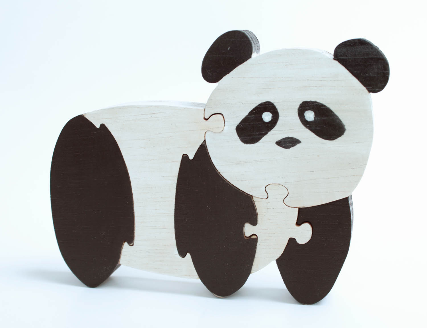 Panda Standing Wood Puzzle And Room Decor Berkshire Bowls